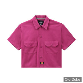CHEMISE A MANCHES COURTES - DICKIES - SILVERGROVE WOMEN - PIK BERRY - TAILLE : L  WOMEN