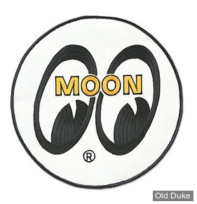 ECUSSON MOONEYES - MOON Logo Round Patch - NOIR/BLANC