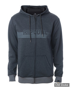 SWEAT SHIRT ZIPPE A CAPUCHE - RIP CURL - MODERN VP FLEECE - BLACK / NOIR