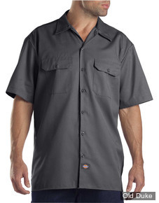 CHEMISE A MANCHES COURTE - DICKIES - SHORT SLEEVE WORK SHIRT #1574 - RELAXED FIT - COULEUR : GRIS / CHARCOAL GREY - TAILLE : S