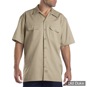 CHEMISE A MANCHES COURTE - DICKIES - SHORT SLEEVE WORK SHIRT #1574 - RELAXED FIT - COULEUR : KHAKI - TAILLE : XXL