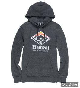 SWEAT SHIRT A CAPUCHE - ELEMENT - LAYER HOOD - GRIS - TAILLE  : S