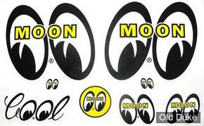 AUTOCOLLANT / DECAL MOONEYES - KIT