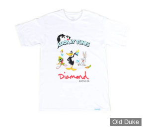 TEE-SHIRT - DIAMOND - DMD X LOONEY TUNES - LOONEY TUNES TEE - WHITE