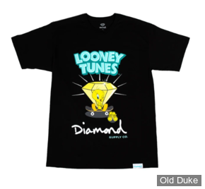 TEE-SHIRT - DIAMOND - DMD X LOONEY TUNES - TWEETY SKATE TEE - BLACK