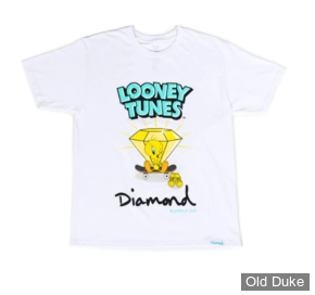 TEE-SHIRT - DIAMOND - DMD X LOONEY TUNES - TWEETY SKATE TEE - WHITE