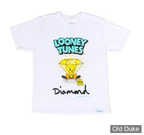 TEE-SHIRT - DIAMOND - DMD X LOONEY TUNES - TWEETY SKATE TEE - WHITE