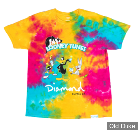 TEE-SHIRT - DIAMOND - DMD X LOONEY TUNES - TIE DYE LOONEY TUNES TEE - TIE DYE