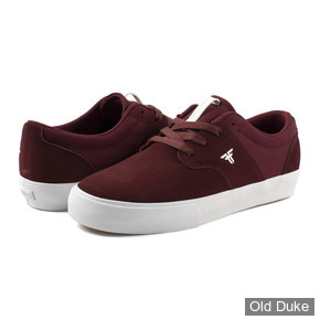 SKATE SHOES - FALLEN - PHOENIX - OXBLOOD WHITE