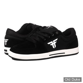 SKATE SHOES - FALLEN - PATRIOT - BLACK WHITE