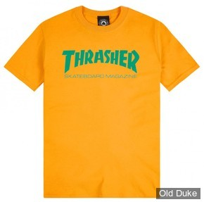 TEE-SHIRT THRASHER MAGAZINE - SKATE MAG - GOLD - TAILLE : L