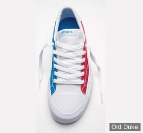 SKATE SHOES - STRAYE - STANLEY - USA - RED / WHITE / BLUE - TAILLE : 44.5