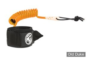 LEASH DE BODYBOARD - POUR POIGNET - CREATURES OF LEASURE - COILED WRIST CUFF - NOIR / ORANGE