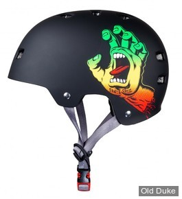 CASQUE DE PROTECTION - BULLET - SANTA CRUZ SCREAMING HAND- RASTA - TAILLE :S/M ADULTE (54-57 cm)