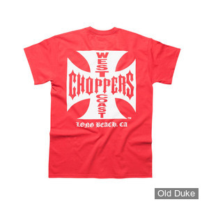 TEE-SHIRT - WEST COAST CHOPPERS - MALTES CROSS  CLASSIC T - ROUGE/ LOGO BLANC