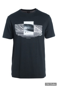 TEE-SHIRT - RIP CURL - DOUBLE FRAME SS TEE - BLACK / NOIR - TAILLE : L