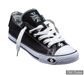 CHAUSSURES - WEST COAST CHOPPERS - BASKETS - WARRIOR LOW TOPS  - NOIR / BLANC - TAILLE : 38
