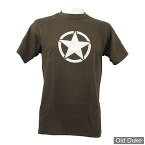 TEE-SHIRT - FOSTEX - VINTAGE WHITE STAR - KAKI - TAILLE : 2XL