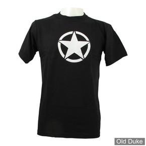 TEE-SHIRT - FOSTEX - VINTAGE WHITE STAR - NOIR