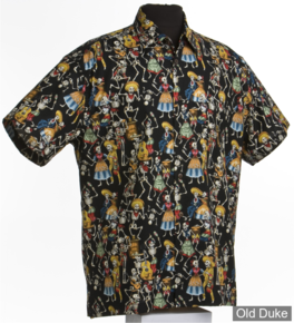 CHEMISE A MANCHES COURTE - HIGH SEAS TRADING CO - Hawaii Day of the Dead - TAILLE : XL