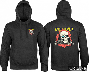 SWEAT SHIRT A CAPUCHE - POWELL PERALTA - RIPPER - CHARCOAL - TAILLE : M