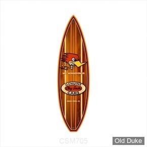 PLAQUE DECORATIVE SURF - MOONEYES - METAL SIGN CLAY SMITH SURF BOARD
