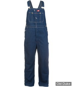 SALOPETTE DICKIES - DUCK BIB OVERALL RINSED - LOOSE FIT / DB100 SERIE - BLEU INDIGO - TAILLE : 38 - LONGUEUR : 32