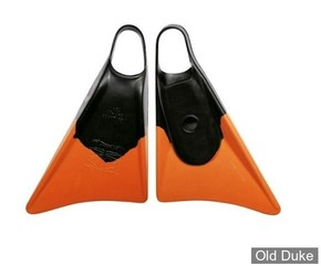 PALMES DE BODYBOARD - CHURCHILL - MAKAPUU - NOIR / ORANGE - TAILLE : L ( 45 / 46 )