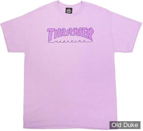 TEE-SHIRT THRASHER MAGAZINE - OUTLINED - ORCHID