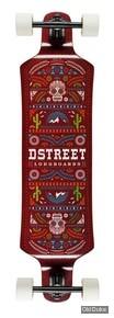 """SKATEBOARD - LONGBOARD - 9.75"""" / 39"""" - D STREET - DROP DOWN EL MEXICANA - RED"""