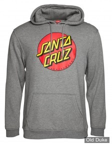 SWEAT SHIRT A CAPUCHE - SANTA CRUZ - Santa Cruz Hoody Classic Dot - GRIS / DARK HEATHER - TAILLE : M