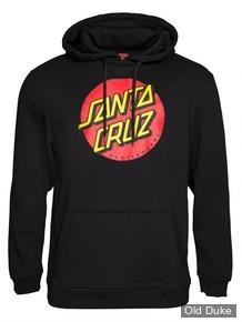 SWEAT SHIRT A CAPUCHE - SANTA CRUZ - Santa Cruz Hoody Classic Dot - NOIR - TAILLE : L