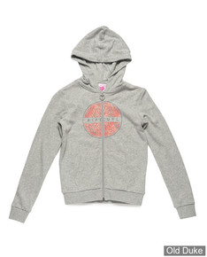 SWEAT  FILLE ZIPPE A CAPUCHE - RIP CURL - ANIMAL FLEECE - CEMENT MARLE