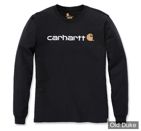 TEE-SHIRT A MANCHES LONGUE - CARHARTT - EMEA WORKWEAR SIGNATURE GRAPHIC LONG  SLEEVE - BLACK - TAILLE : XL