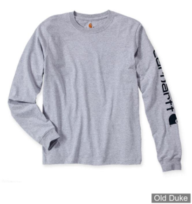 TEE-SHIRT MANCHE LONGUE -  CARHART - SLEEVE LOGO L/S HEATHER - GRIS - TAILLE : M