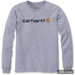TEE-SHIRT A MANCHES LONGUE - CARHARTT - EMEA WORKWEAR SIGNATURE GRAPHIC LONG  SLEEVE - HEATHER GREY