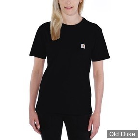 TEE-SHIRT - CARHARTT - LADIES WORKWEAR POCKET SHORT SLEEVE T-SHIRT - BLACK - TAILLE : M