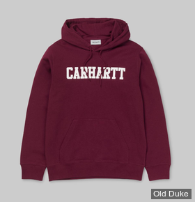SWEAT SHIRT A CAPUCHE - CARHARTT WORK IN PROGRESS - HOODED COLLEGE - MULBERRY / WHITE - TAILLE  : M