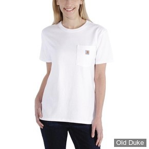 TEE-SHIRT - CARHARTT - LADIES WORKWEAR POCKET SHORT SLEEVE T-SHIRT - WHITE - TAILLE : L