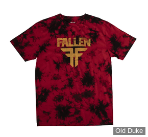 TEE-SHIRT - FALLEN - ACID FALLEN TEE - RED / BLACK -  TAILLE  : L