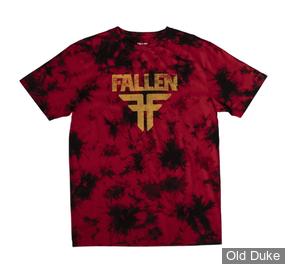 TEE-SHIRT - FALLEN - ACID FALLEN TEE - RED / BLACK