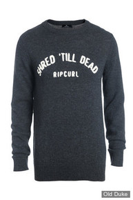 PULL OVER - RIP CURL - SHREDER CREW SWEAT - DARK MARLE - GRIS - TAILLE : M