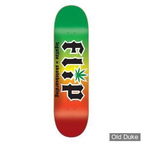 "DECK - 8.25"" / 32.31""  - HKD Legalize Rasta - FLIP SKATEBOARD"