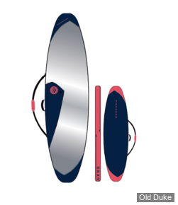 HOUSSE DE SURF - HYBRIDE - LONGUEUR : 6'4 - POUR 2 PLANCHES - MADNESS COVER PE TWIN TRAVEL - NAVY / FLUO RED