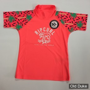 LYCRA  ENFANT - RIP CURL - WETSUIT MINI GIRL MIAMI - UPF 50+ - CORAIL- TAILLE : 6 ANS