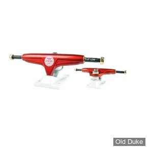 "TRUCKS - IRON - LOW  - 5.0""- RED"