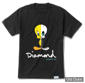 TEE-SHIRT - DIAMOND - DMD X LOONEY TUNES - X RAY TEE - BLACK - TAILLE  : S