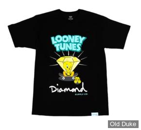 TEE-SHIRT - DIAMOND - DMD X LOONEY TUNES - TWEETY SKATE TEE - BLACK - TAILLE  : S