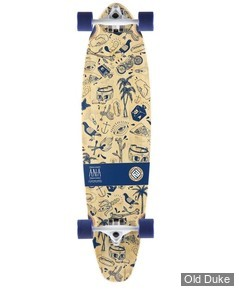 "SKATEBOARD - CRUISER - 9.5"" - INK IS DRUG 37"" - FLYING WHEELS"