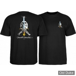 TEE SHIRT - POWELL PERALTA - CLASSIC SKULL & SWORD - BLACK - TAILLE : M